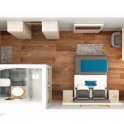 Hotel - Einzelzimmer - Grundriss